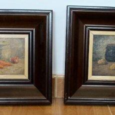 Arte: ÓLEO SOBRE MADERA- DOS BODEGONES- RAFAEL BASTARDES- (1912- 1997). Lote 211781546