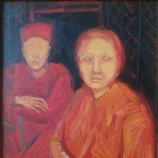 Arte: MERCEDES CASAS OCAMPO (CÓRDOBA, ARGENTINA,1946) - ROJO.OLEO/TABLA.FIRMADO.TITULADO.CERTIFICADO.. Lote 212106571