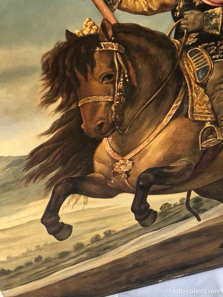 Arte: Precioso óleo sobre lienzo, infante sobre caballo - Foto 11 - 212303312