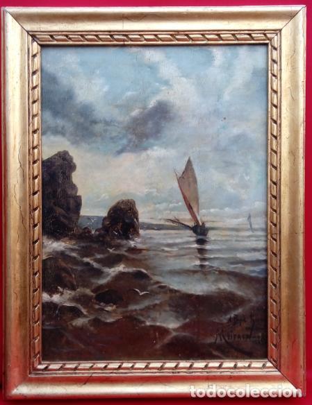 ÓLEO S/LIENZO ENMARCADO. FIRMADO -MEIFREN-, FECHADO 1886 Y DEDICADO. DIM.- 74X57.5 CMS. (Arte - Pintura - Pintura al Óleo Moderna siglo XIX)