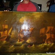 Arte: OLEO SOBRE LIENZO. SIGLO-XIX .FRMADO M. VENTURA MILLAN. Lote 212342682