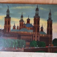 Arte: CUADRO MANUEL GRANERO EL PILAR DE ZARAGOZA 92 X 60 CM. Lote 212498471