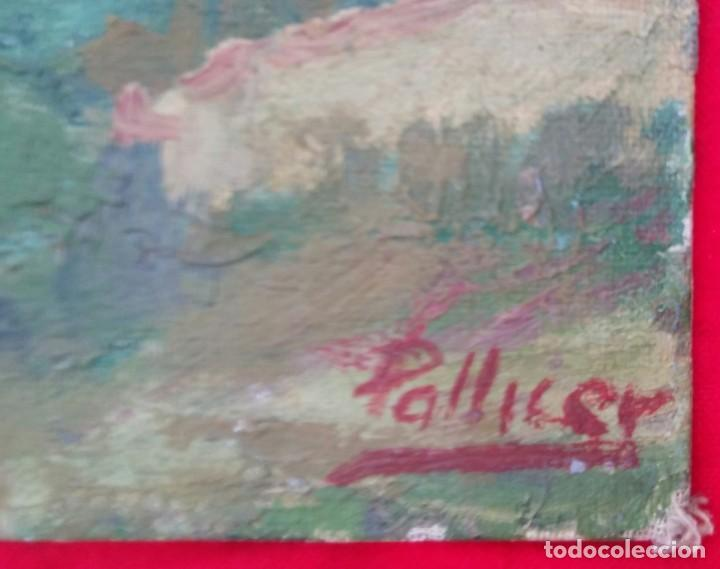 Arte: VALLDEMOSSA (Mallorca) - ÓLEO SOBRE CARTON - FIRMA: PALLICER- 46 cm x 38 cm ( 8 F) - - Foto 4 - 212605220