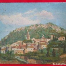 Arte: VALLDEMOSSA (MALLORCA) - ÓLEO SOBRE CARTON - FIRMA: PALLICER- 46 CM X 38 CM ( 8 F) -. Lote 212605220