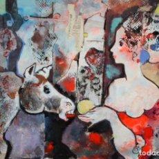Arte: MIQUEL TORNER DE SEMIR (SANTA PAU, GERONA, 1938) ACRILICO SOBRE TABLON. 63 X 90 CM.. Lote 212608566