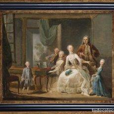 Arte: ESCUELA FRANCESA. CONCIERTO INTIMO. HACIA 1750. OLEO SOBRE TELA. 34,5 X 44,5 CM. Lote 212675613