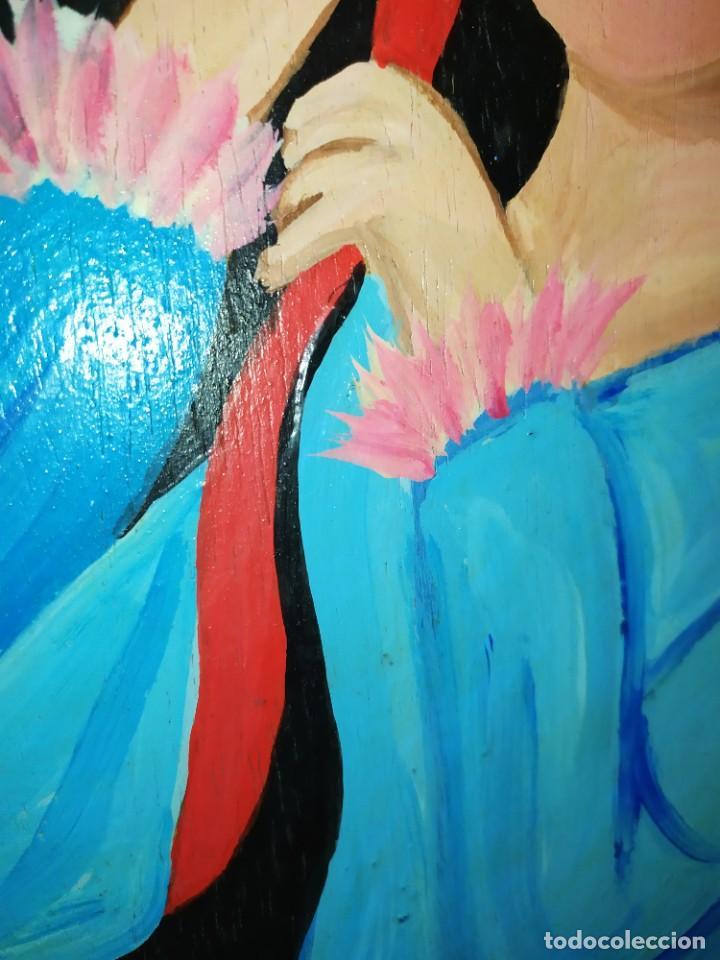 Arte: LOTE OLEO SOBRE TABLA CHICA GUAPA GEISA CHARLES CHAPLIN ENMARCADO FIRMADOS ÁFRICA PRECIOSOS - Foto 4 - 212736528