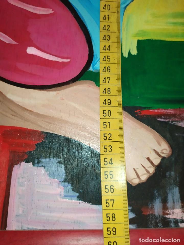 Arte: LOTE OLEO SOBRE TABLA CHICA GUAPA GEISA CHARLES CHAPLIN ENMARCADO FIRMADOS ÁFRICA PRECIOSOS - Foto 10 - 212736528