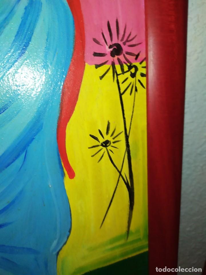Arte: LOTE OLEO SOBRE TABLA CHICA GUAPA GEISA CHARLES CHAPLIN ENMARCADO FIRMADOS ÁFRICA PRECIOSOS - Foto 11 - 212736528