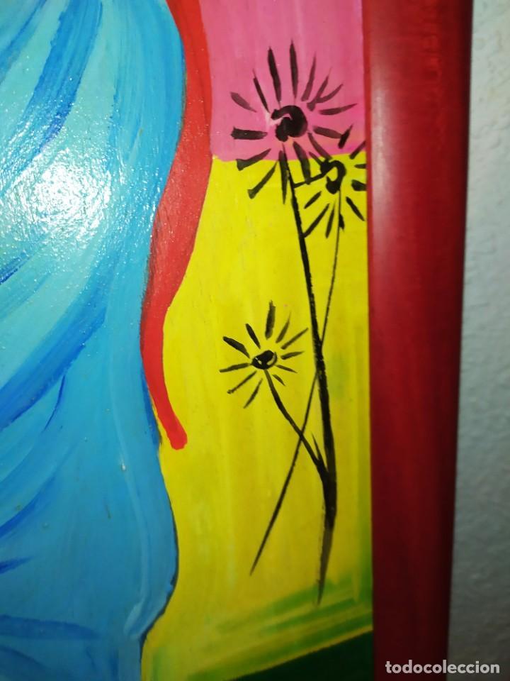 Arte: LOTE OLEO SOBRE TABLA CHICA GUAPA GEISA CHARLES CHAPLIN ENMARCADO FIRMADOS ÁFRICA PRECIOSOS - Foto 12 - 212736528