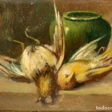 Arte: FIRMADO F. FARET. OLEO SOBRE CARTON DE APROXIMADAMENTE 1940. NATURALEZA MUERTA. Lote 212889713