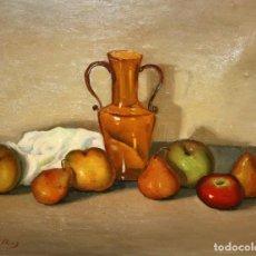 Arte: LLUIS VILA PLANA (SABADELL, 1921 - ??) OLEO SOBRE TELA. BODEGON. Lote 212890157