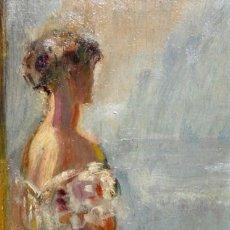 Arte: PEDRO CASAS ABARCA (BARCELONA, 1875-1958) OLEO SOBRE TABLA. RETRATO FEMENINO. Lote 212893138