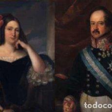 Arte: CARDERERA Y SOLANO, VALENTÍN (1796-1880) RETRATOS DE LOS MARQUESES DE MALPICA (FERNÁNDEZ DE CÓRDOBA). Lote 212918238