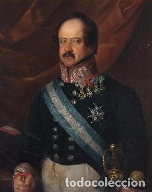 Arte: CARDERERA Y SOLANO, VALENTÍN (1796-1880) RETRATOS DE LOS MARQUESES DE MALPICA (FERNÁNDEZ DE CÓRDOBA) - Foto 2 - 212918238