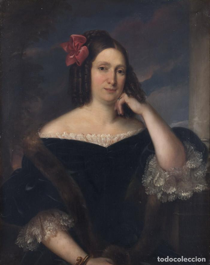 Arte: CARDERERA Y SOLANO, VALENTÍN (1796-1880) RETRATOS DE LOS MARQUESES DE MALPICA (FERNÁNDEZ DE CÓRDOBA) - Foto 3 - 212918238