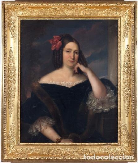 Arte: CARDERERA Y SOLANO, VALENTÍN (1796-1880) RETRATOS DE LOS MARQUESES DE MALPICA (FERNÁNDEZ DE CÓRDOBA) - Foto 7 - 212918238