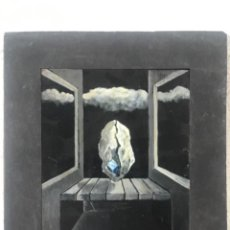 Arte: OLEO SOBRE MADERA DE JOSEP ROIG 1970'S PINTURA SURREALISTA.. Lote 212959223