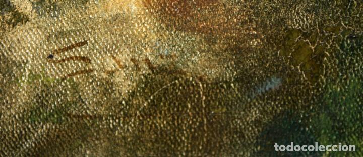 Arte: AUTORIA DESCONOCIDA DE APROXIMADAMENTE 1900. OLEO SOBRE TELA. MATERNIDAD - Foto 6 - 213131730