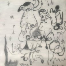 Arte: DIBUJO MIRO HOMENAJE (1). Lote 213133922