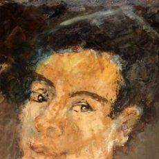 Arte: PILAR LEITA GRAELL (AIGUAFREDA, BARCELONA, 1924 - ??) OLEO SOBRE CARTON. RETRATO FEMENINO. Lote 213134607