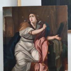 Arte: SANTA BARBARA. OLEO. S. XVIII. IGLESIA. CUADRO ANTIGUO.. Lote 213184613