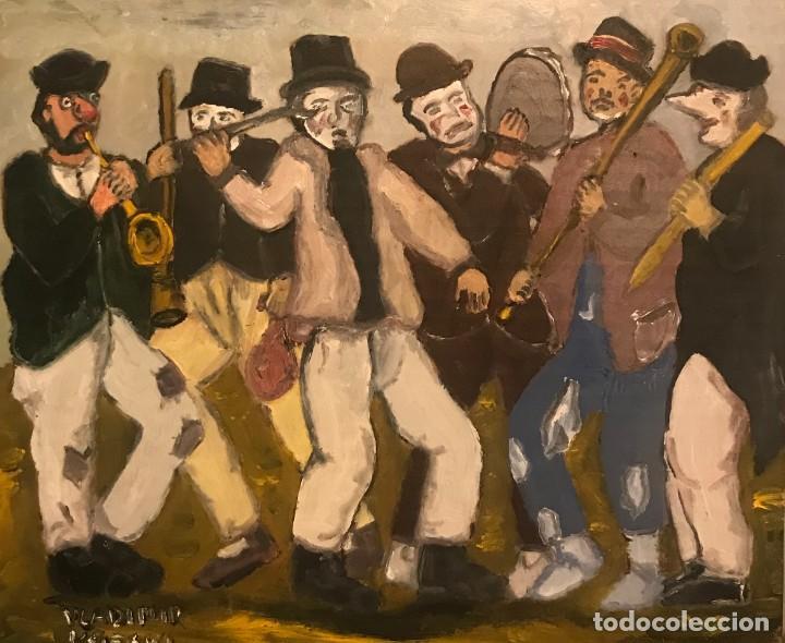 BANDA MUSICOS (Arte - Pintura Directa del Autor)