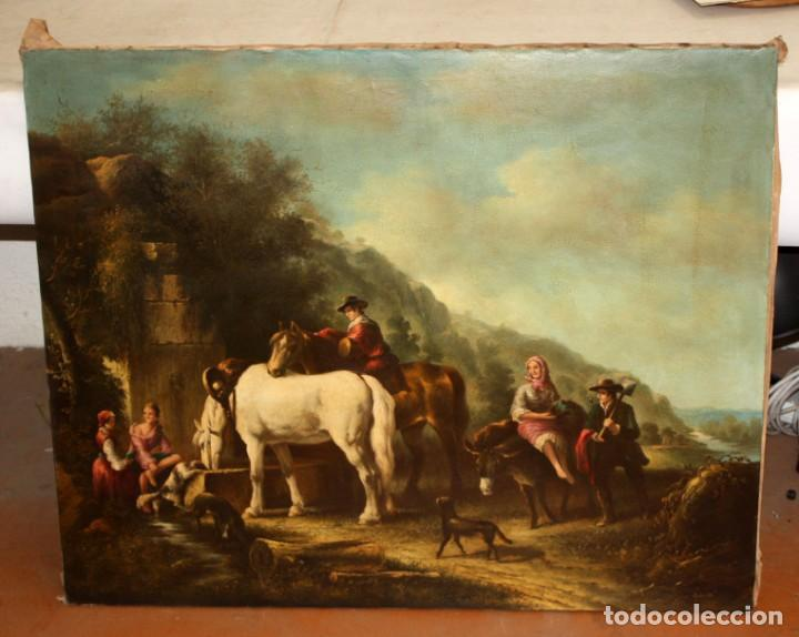 Arte: A. DOLS. OLEO SOBRE TELA DE LA 1ª MITAD DEL SIGLO XX. OLEO SOBRE TELA. ESCENA CAMPESTRE - Foto 3 - 213241911