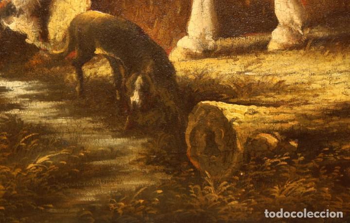 Arte: A. DOLS. OLEO SOBRE TELA DE LA 1ª MITAD DEL SIGLO XX. OLEO SOBRE TELA. ESCENA CAMPESTRE - Foto 13 - 213241911