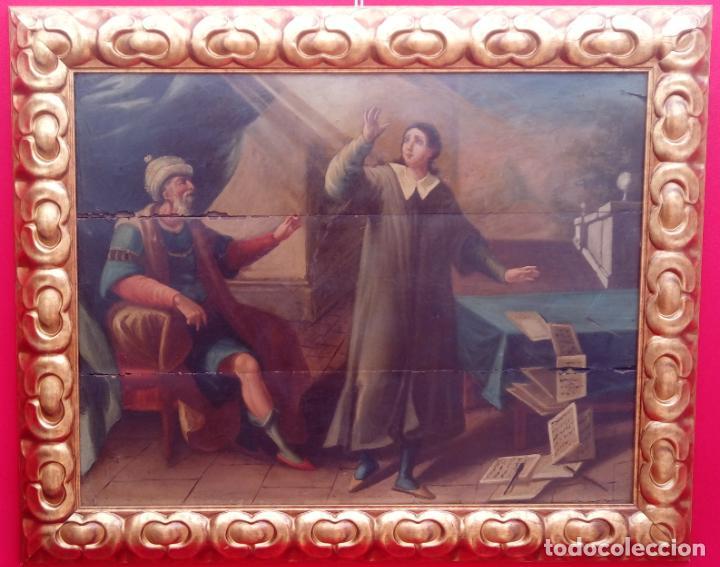 ÓLEO S/TABLA -SANTA BÁRBARA-. FINALES S. XV-PRINCIPIOS S. XVI -ESC ESPAÑOLA-. DIM.- 93,5X76,5 CMS (Arte - Pintura - Pintura al Óleo Antigua siglo XV)