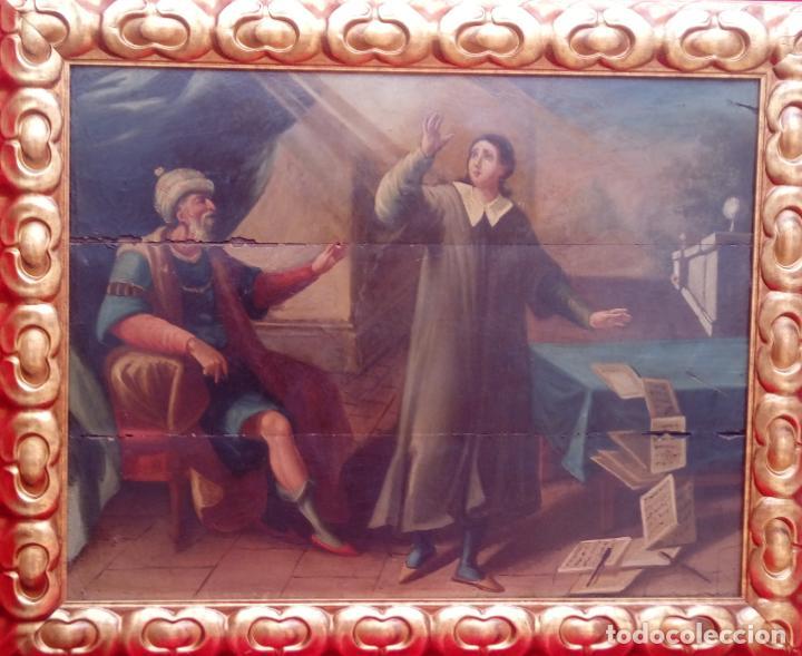 Arte: ÓLEO S/TABLA -SANTA BÁRBARA-. FINALES S. XV-PRINCIPIOS S. XVI -ESC ESPAÑOLA-. DIM.- 93,5X76,5 CMS - Foto 2 - 213253300