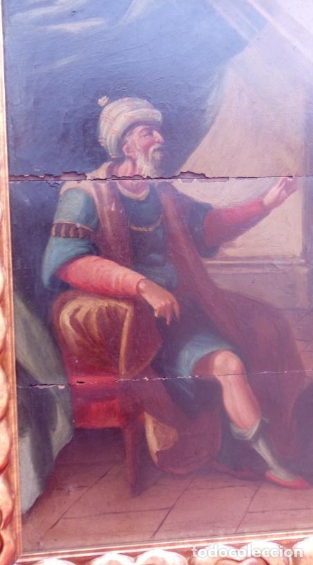 Arte: ÓLEO S/TABLA -SANTA BÁRBARA-. FINALES S. XV-PRINCIPIOS S. XVI -ESC ESPAÑOLA-. DIM.- 93,5X76,5 CMS - Foto 3 - 213253300