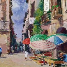 Arte: TORROELLA DE MONTGRI. ÓLEO. FIRMADO. R. MESTRES. ETILO IMPRESIONISTA. ESPAÑA. SIGLO XX. Lote 222722507