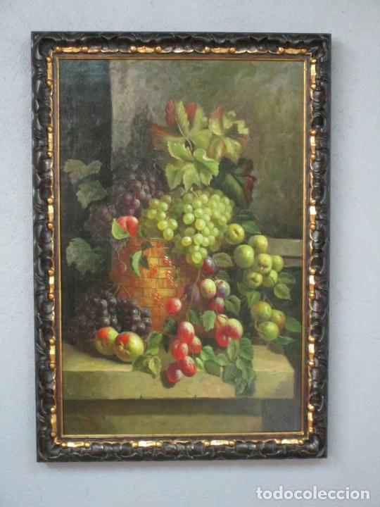 PRECIOSO BODEGÓN - ÓLEO SOBRE TELA - FRUTAS - S. XIX (Arte - Pintura - Pintura al Óleo Moderna siglo XIX)