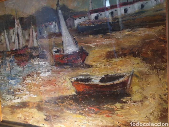 Arte: Excepcional Marina, envío gratis, pintada y firmada por la pintora Kimeta Castañé - Foto 2 - 213348952