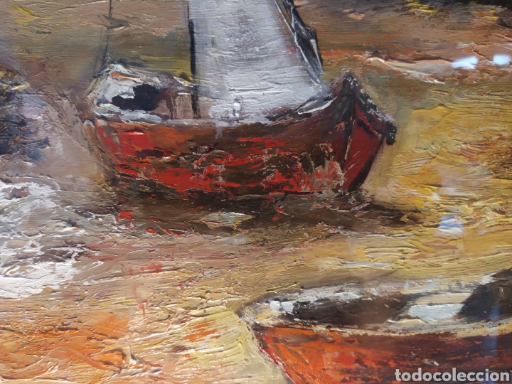 Arte: Excepcional Marina, envío gratis, pintada y firmada por la pintora Kimeta Castañé - Foto 3 - 213348952