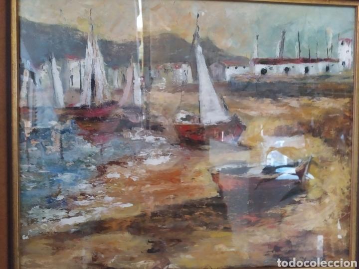 Arte: Excepcional Marina, envío gratis, pintada y firmada por la pintora Kimeta Castañé - Foto 5 - 213348952