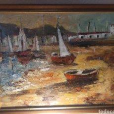 Arte: EXCEPCIONAL MARINA PINTADA Y FIRMADA POR LA PINTORA KIMETA CASTAÑÉ. Lote 213348952