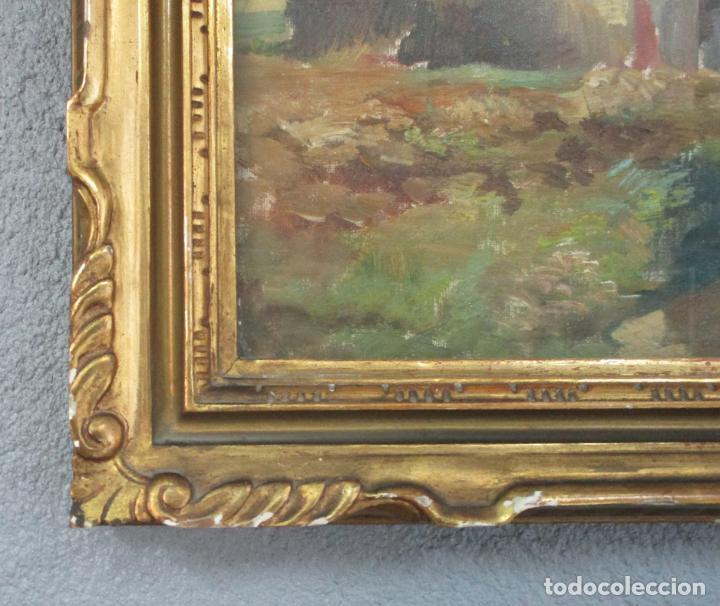 Arte: J. Mombrú Ferrer, Barcelona 1892-1963 - Óleo sobre Tela - Paisaje - Escuela Catalana - Año 1933 - Foto 4 - 213391052