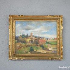 Arte: J. MOMBRÚ FERRER, BARCELONA 1892-1963 - ÓLEO SOBRE TELA - PAISAJE - ESCUELA CATALANA - AÑO 1933. Lote 213391052