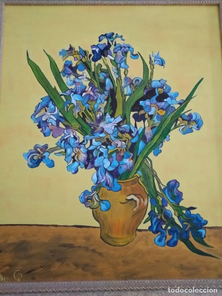 Arte: cuadro antiguo , óleo sobre lienzo - Foto 2 - 213391773