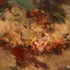 Arte: ESCUELA ESPAÑOLA DEL SIGLO XVIII. OLEO SOBRE TABLA. ALEGORIA GOYESCA. Lote 213458671