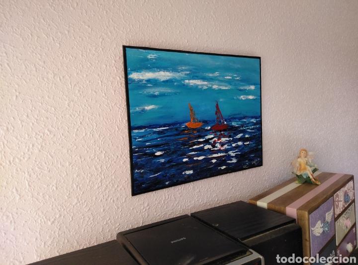 Arte: Pintura abstracta. Acrílico sobre tabla 37x28. - Foto 2 - 213472990