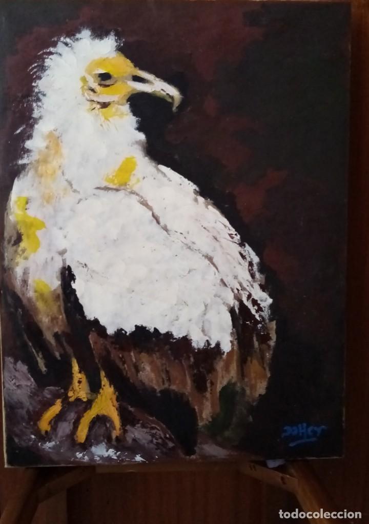 EL ÁGUILA . BONITA PINCELADA AL ÓLEO SOBRE TABLA DE 46 X 61 CM (Arte - Pintura - Pintura al Óleo Moderna sin fecha definida)