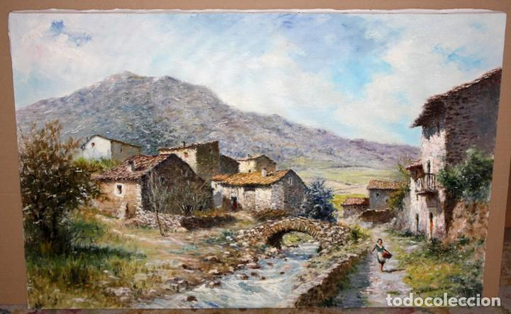 Arte: MARIO GINESTA RUIZ (Barcelona, 1923 - 2003) OLEO SOBRE LIENZO. PAISAJE RURAL - Foto 2 - 213487082