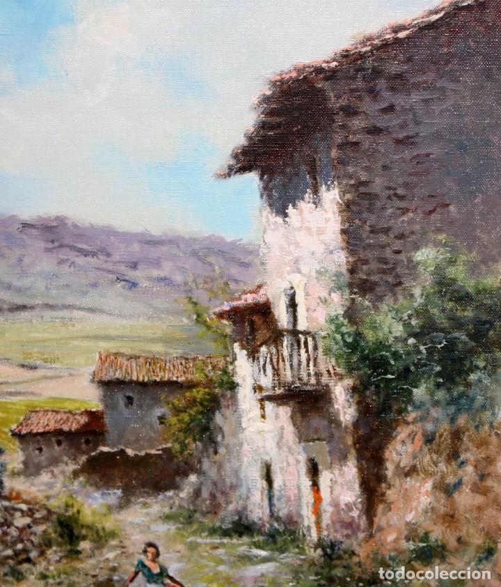 Arte: MARIO GINESTA RUIZ (Barcelona, 1923 - 2003) OLEO SOBRE LIENZO. PAISAJE RURAL - Foto 3 - 213487082