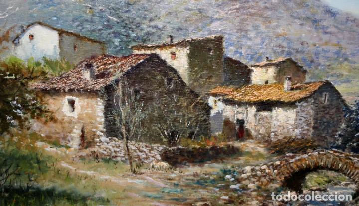 Arte: MARIO GINESTA RUIZ (Barcelona, 1923 - 2003) OLEO SOBRE LIENZO. PAISAJE RURAL - Foto 4 - 213487082