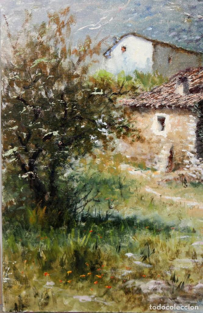 Arte: MARIO GINESTA RUIZ (Barcelona, 1923 - 2003) OLEO SOBRE LIENZO. PAISAJE RURAL - Foto 5 - 213487082