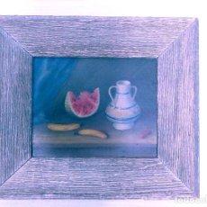 Arte: CUADRO : BODEGON/OLEO SOBRE TABLA .50,S. Lote 213573933