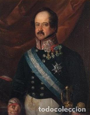 Arte: CARDERERA Y SOLANO, VALENTÍN (1796-1880) RETRATOS DE LOS MARQUESES DE MALPICA (FERNÁNDEZ DE CÓRDOBA) - Foto 8 - 212918238